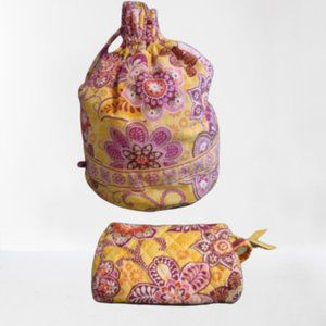 Vera Bradley Ditty Bag and Matching Cosmetic Bag